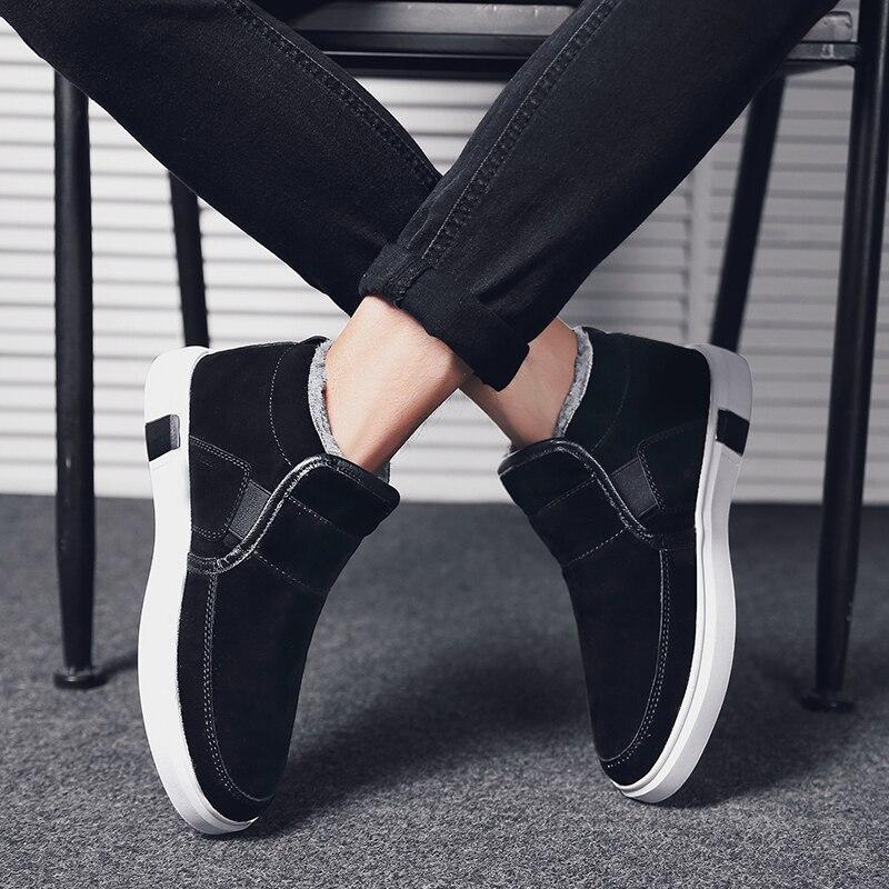 Coton Botas White Chaussures on Black Fur Bottes D'hiver Mode Hommes Offre Haute Hombre Gold Fur Avec Appartements Fourrure Taille Neige Fur Spéciale Slip 39 Chaud Cheville De 44 Top black gray dhstQCr