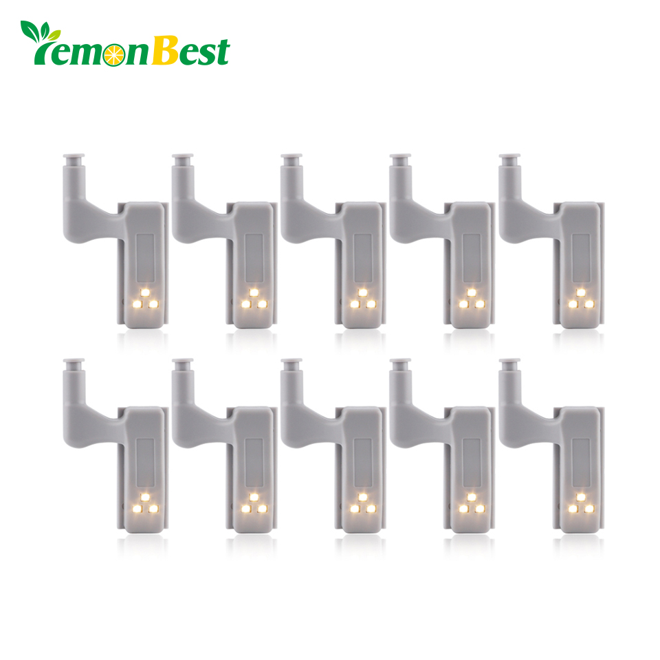 10pcs Universal Cabinet Inner Hinge LED Sensor Light Kitchen Night Light for Bedroom Living room Cupboard Closet Wardrobe light fixed full overlay sus304 stainless steel damping hinge for kitchen bedroom living room cupboard door