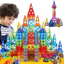 Zabawki dla dzieci 78 sztuk magformers projektant enlighten cegieł edukacyjne magnetyczne zabawki 3d diy model building blocks
