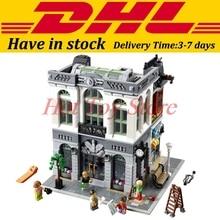 DHL 2016 LEPIN 15001 2413Pcs Creator Brick Bank Model Building Kits Minifigure Blocks Bricks Toy Compatible
