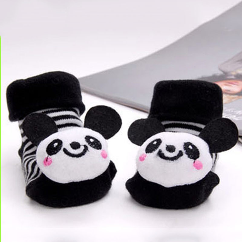 Newborn Cotton Cute Animal Baby Socks Cartoon Slipper Cute Anti Slip Cotton Toddler Baby Socks Shoes 0-18Month