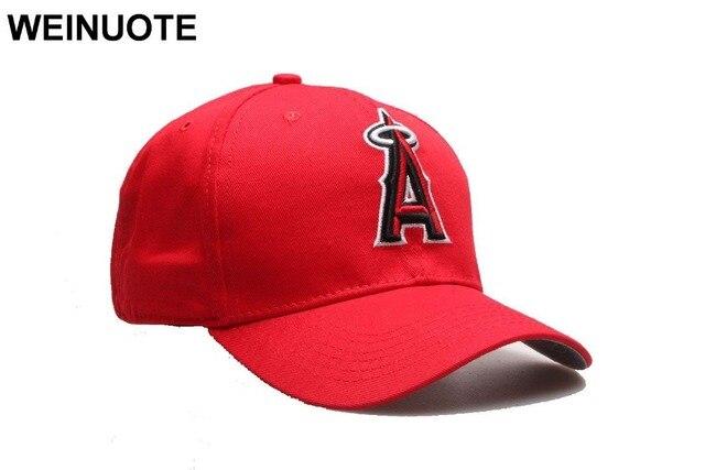 7e51011b31169 Los Angeles Angels of Anaheim ajustable Strapback sombreros deporte clásico  moda béisbol gorras rojas una letra