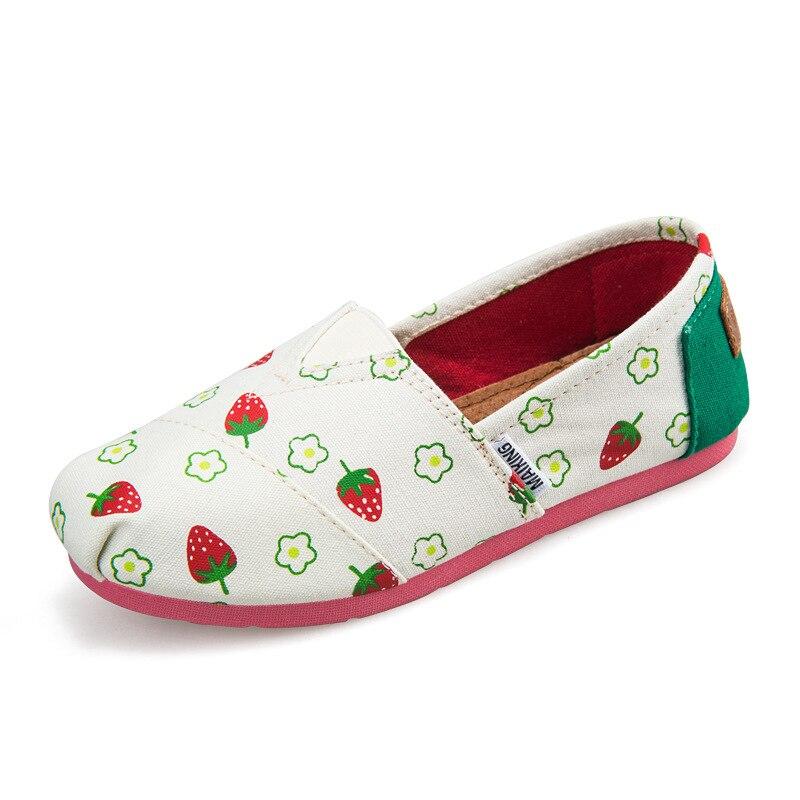 Nuevos niños zapatos de lona para las niñas zapatillas de deporte del muchacho Slip On Flat