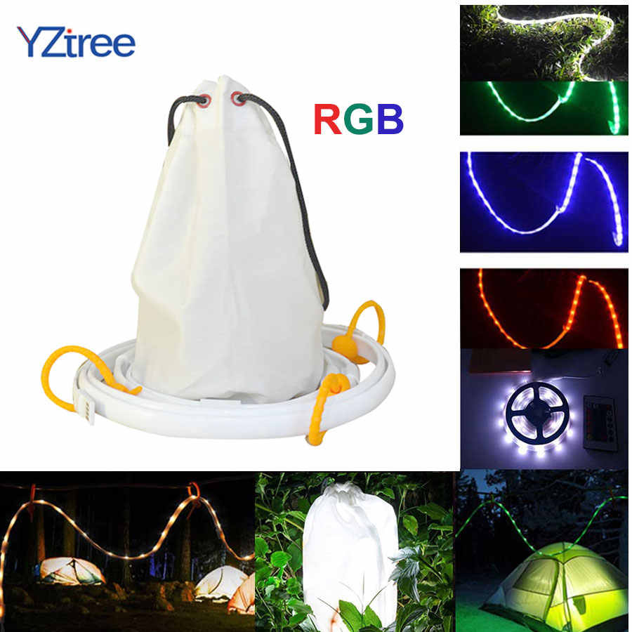 Waterdichte Camping RGB LED Strip Licht Lantaarn Lamp 1.5 m SMD 2835 DC5V USB LED Lichtslang Outdoor Wandelen Camp tent Opknoping Lamp