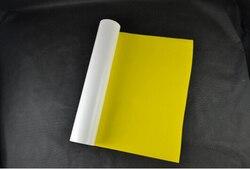 (0.5x5M) jaune citron 2.5 mètre carré transfert de chaleur en polyuréthane vinyle Vinil Textil pour t-shirt fer sur vinyle presse à chaud vinyle LY605