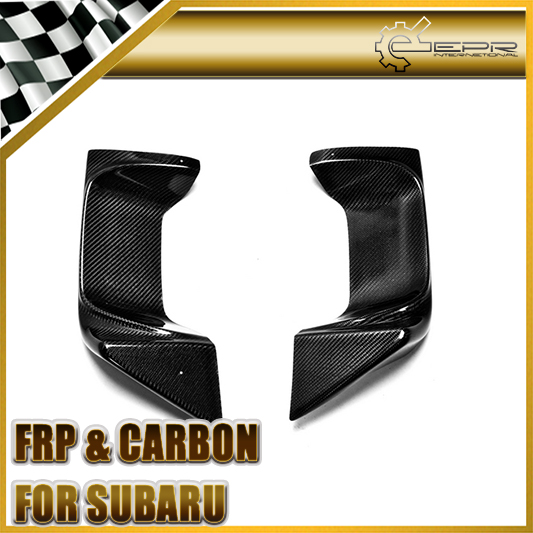 Car Styling For Subar Impreza 10 GVB Sedan VRS Style Carbon Fiber Rear Bumper Exhaust Heat Shield