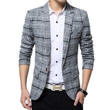 2018 moda de los nuevos hombres traje boutique hombre de negocios plaid vestido  blazers capa de la chaqueta 41d995101554