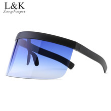 Women Oversized Shield Visor Sunglasses Women Vintage Windpr