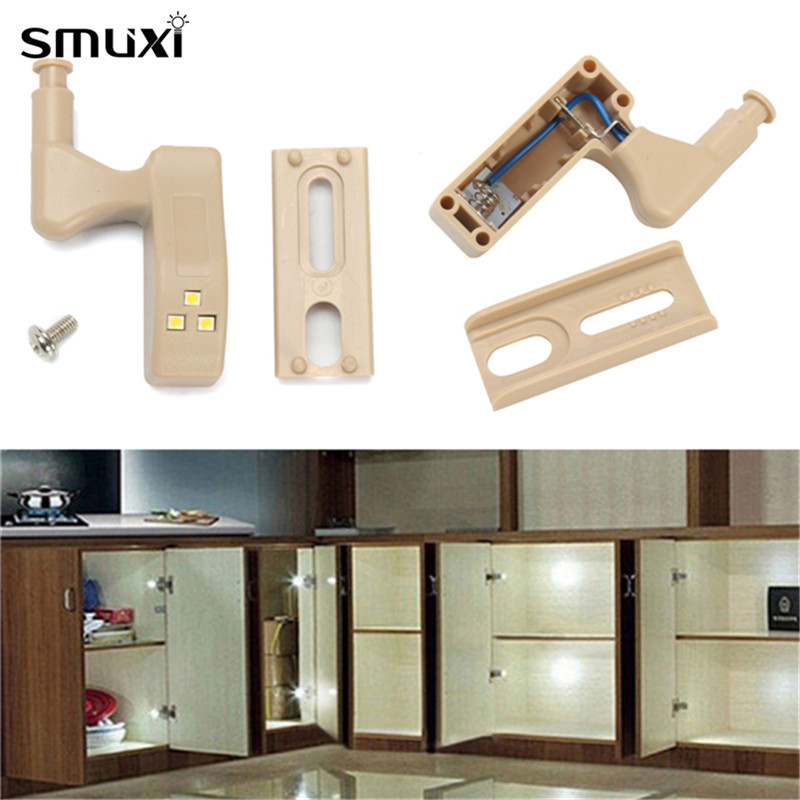 Smuxi 3 LED Night Light Plastic Battery Powered Sensor White/Warm White Night Lamp for Cabinet Kitchen Cupboard Showcse Wardrobe