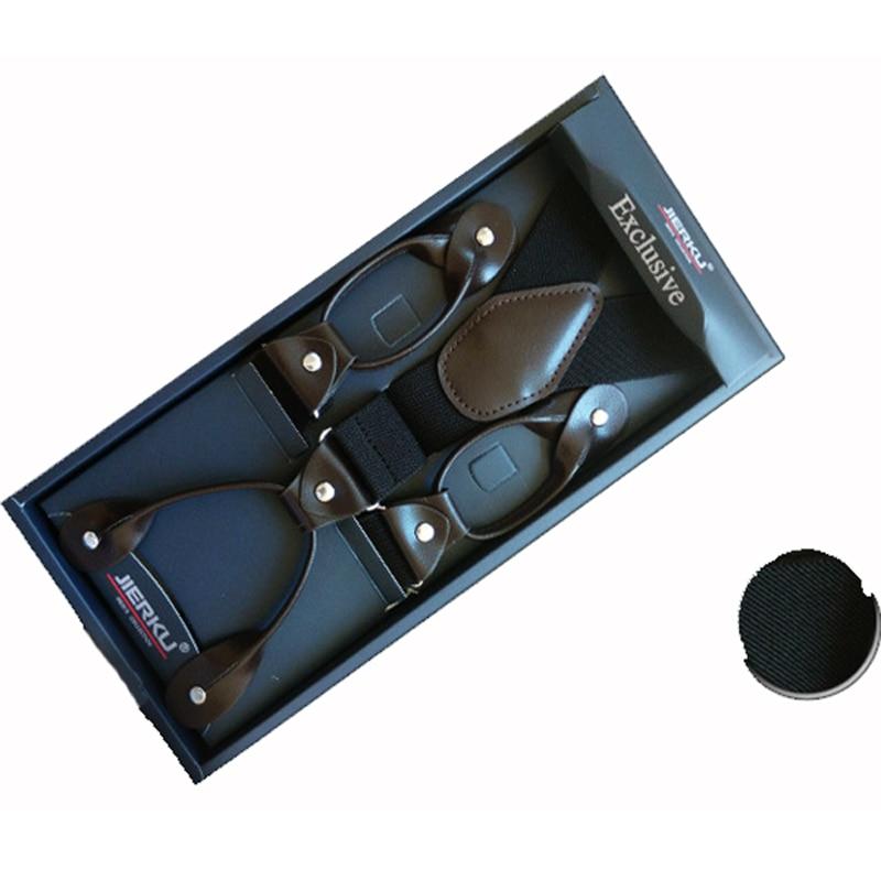 6-knops jarretels man / vrouw-bretels Verstelbare elastische bretelles bretelles Y-Rug ligas Tirantes 3.5 * 120cm