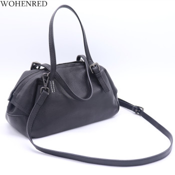 WOHENRED Brand Handbag Women Bag Genuine Leather Shoulder Messenger Bags Fashion Tote Hobos Ladies Hand Bag 2019 bolsas feminina