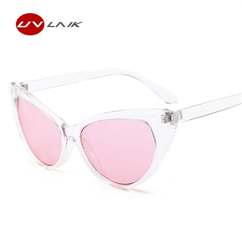 UVLAIK Women Cat Eye Sunglasses Clear Frame Glasses Oversized ...