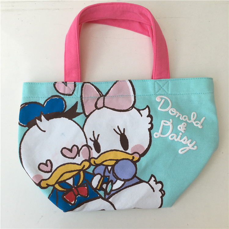 Cute Cartoon Chip And Dale Donald Duck Daisy Canvas Lunch Tote Bag For Kids School Box Women Picnic Food In Bags From Luggage