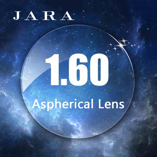 JARA 1.61 Lente Asférica Duro Anti-UV Míopes Lentes Anti-radiação Com Óculos de grau