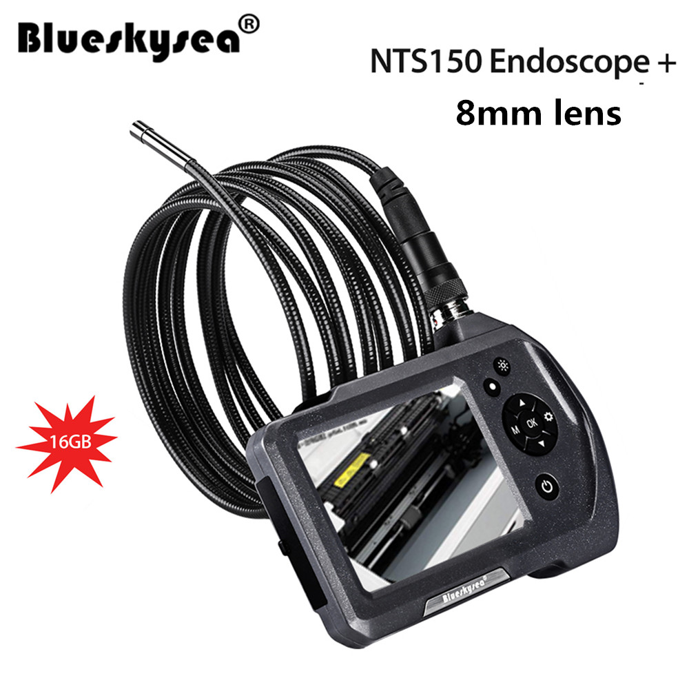 8mm borescope Camera 16GB NTS150 3.5 LCD Display Monitor Inspection Endoscope 6 LEDS Borescope 1/3 meter Snake Tube Camera8mm borescope Camera 16GB NTS150 3.5 LCD Display Monitor Inspection Endoscope 6 LEDS Borescope 1/3 meter Snake Tube Camera