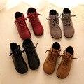 Abuela zapatos masculinos y femeninos de los niños zapatos botas de cordón de la onda Coreana de una generación de pelo