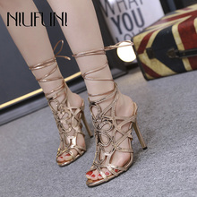 Sexy Carved Stiletto Womens Sandals 2019 Summer New Arrival Hollow High Heels Roman Fashion Banquet Wedding Shoes Ladies