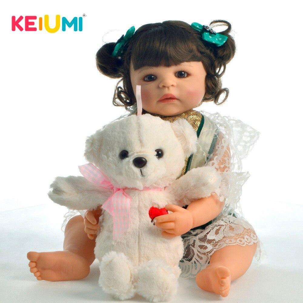 Fantasy 22 55cm Reborn Baby Girl Doll Full Body Silicone Fashion Newborn Doll Boneca Brinquedo Kids