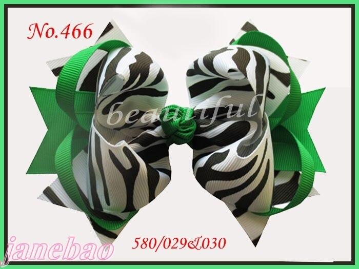 """Новейший 300 шт 5,"""" большое кольцо женский бант для волос аксессуары для волос популярные заколки для волос Зебра Девушка"""