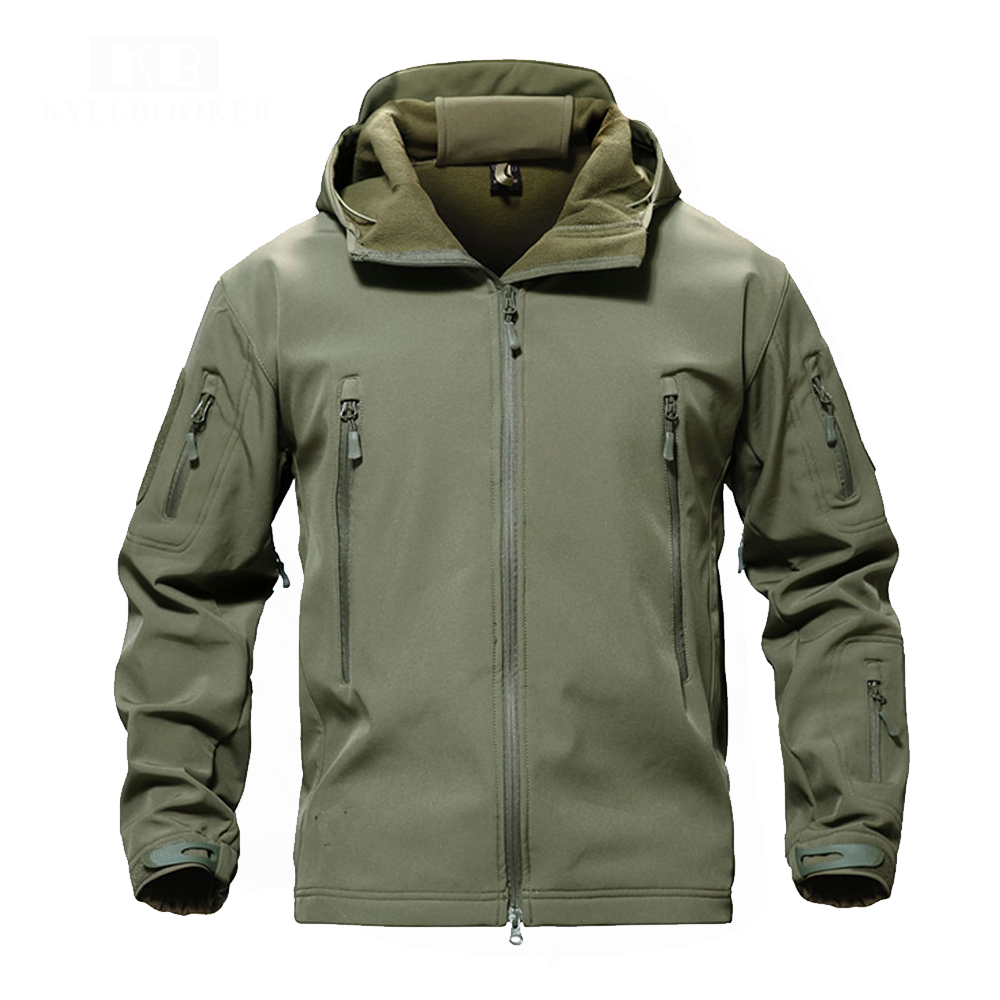Men's Fishing Soft Shell Lurker Shark Jacket Men Outdoor Hunting Jacket Waterproof Jacket Windproof Colthing