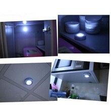 Premium Sensitive Mini Wall Light Kitchen Cabinet Closet Lighting 3 LED Wireless Push Touch Lights