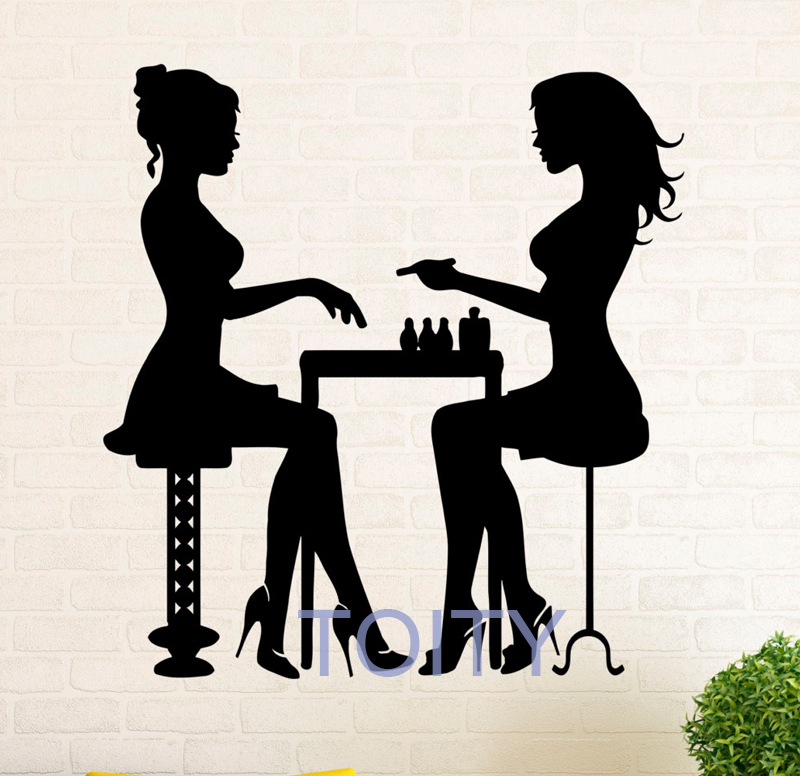 manicure salon vinyl wall sticker