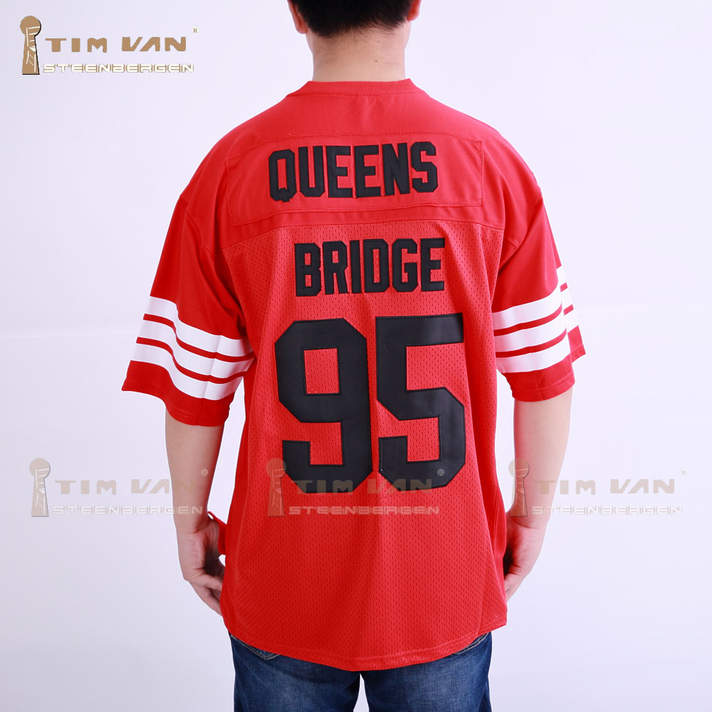 45445cd27 TIM VAN STEENBERGE Prodigy 95 Hennessy Queens Bridge Football Jersey  Stitched Sewn Red-in America Football Jerseys from Sports & Entertainment  on ...