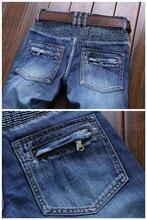 European American Style 2017 marque de mode designer hommes jeans de luxe Hommes de denim pantalon Slim Droite pop bleu gentleman jeans
