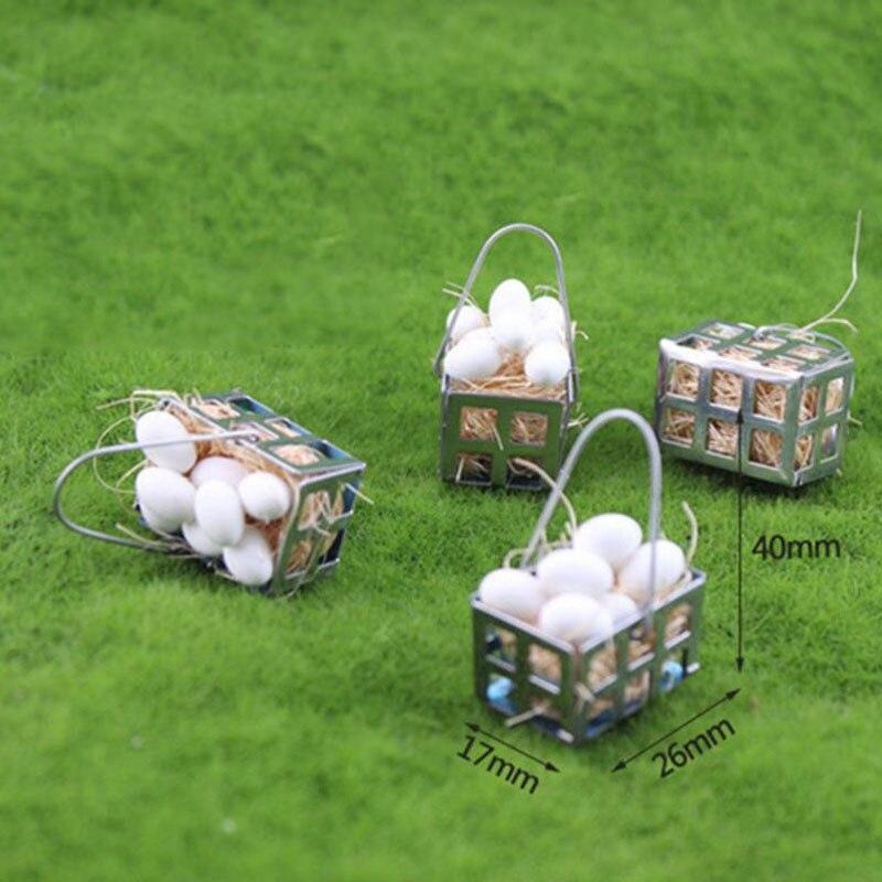 1 Pc Kawaii 1/12 Dollhouse Miniature Accessories Mini White Egg Basket Model Doll House Accessories Toys Kids Gift