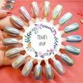 Unicornio polvo holográfico Espejo Polvo Láser Gradiente de Arco Iris de Colores Del Polvo Del Brillo Del Cromo Lentejuelas Uñas de Arte