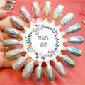unicorn holographic powder  Colorful Laser Mirror Powder  Rainbow Gradient Powder Dust Glitter Chrome Nail Sequins Nail Art
