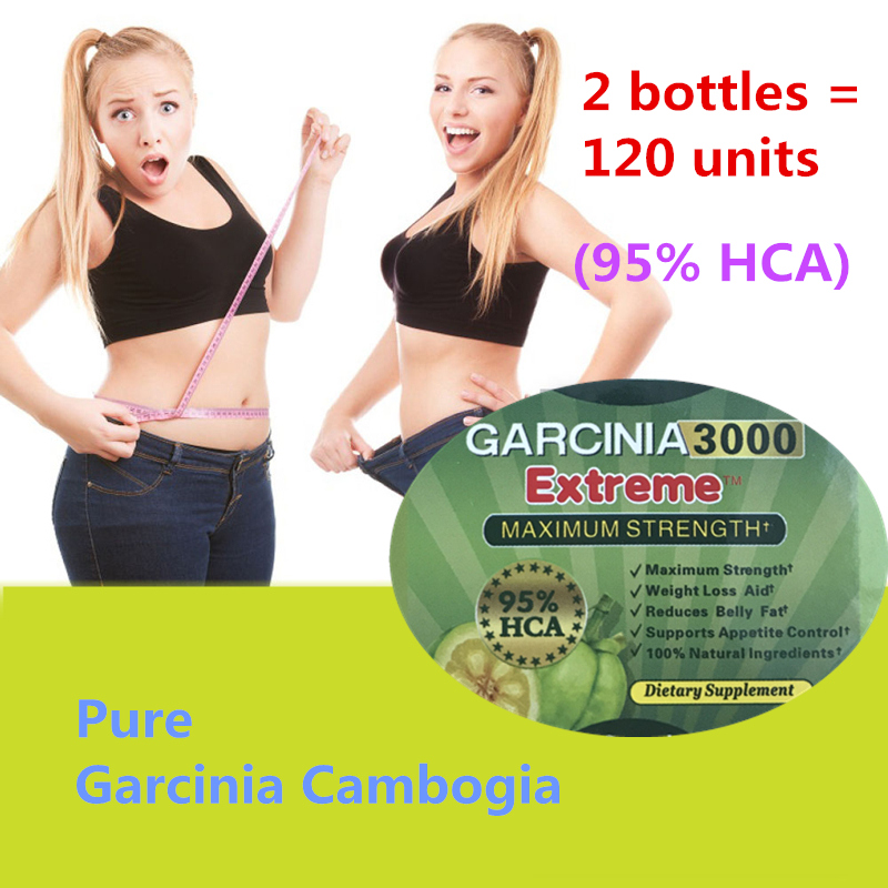 2 bottles = 120 units Pure garcinia cambogia slimming products 95% HCA loss weight diet product for women 2 bottles 120 pcs pure garcinia cambogia extracts weight loss 95% hca 100% effective for slimming supplement