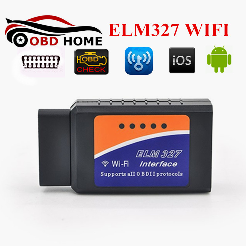 Prix pour Meilleur Vendeur OBDII Auto Scanner WIFI ELM 327 Outil De Diagnostic OBD2 ELM327 WIFI Scan Sans Fil Fonctionne Sur IOS Téléphone