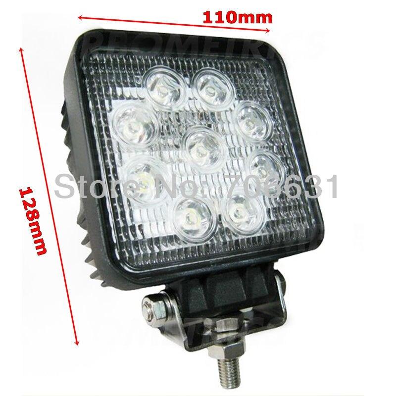 Tkeapl thtmh 20x скор IP67 12 В 24 В 27 Вт светодиодная лампа работы луч света грузовик Прицепы лодка 4WD внедорожник бездорожье 6000 К