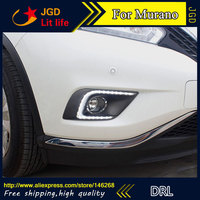 Free shipping ! 12V 6000k LED DRL Daytime running light for Nissan Murano 2015 fog lamp frame Fog light