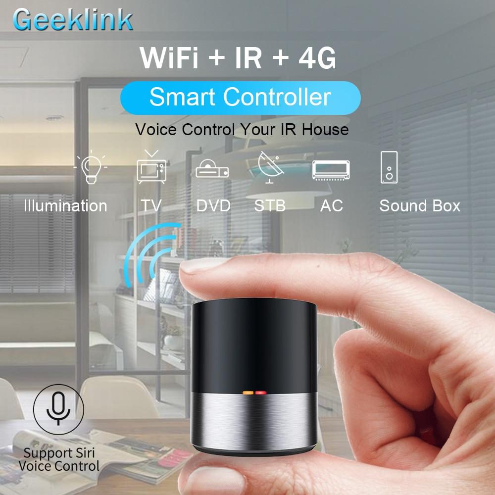 Geeklink Smart Home WIFI+IR+4G Universal Remote Control iOS Android Siri  Voice Control for USA Alexa USA Google Home Automation