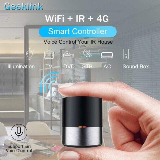 Geeklink casa inteligente WIFI + IR + 4G Control remoto Universal iOS Android Control por voz de Siri para EE. UU. Alexa EE. UU. de Google de automatización