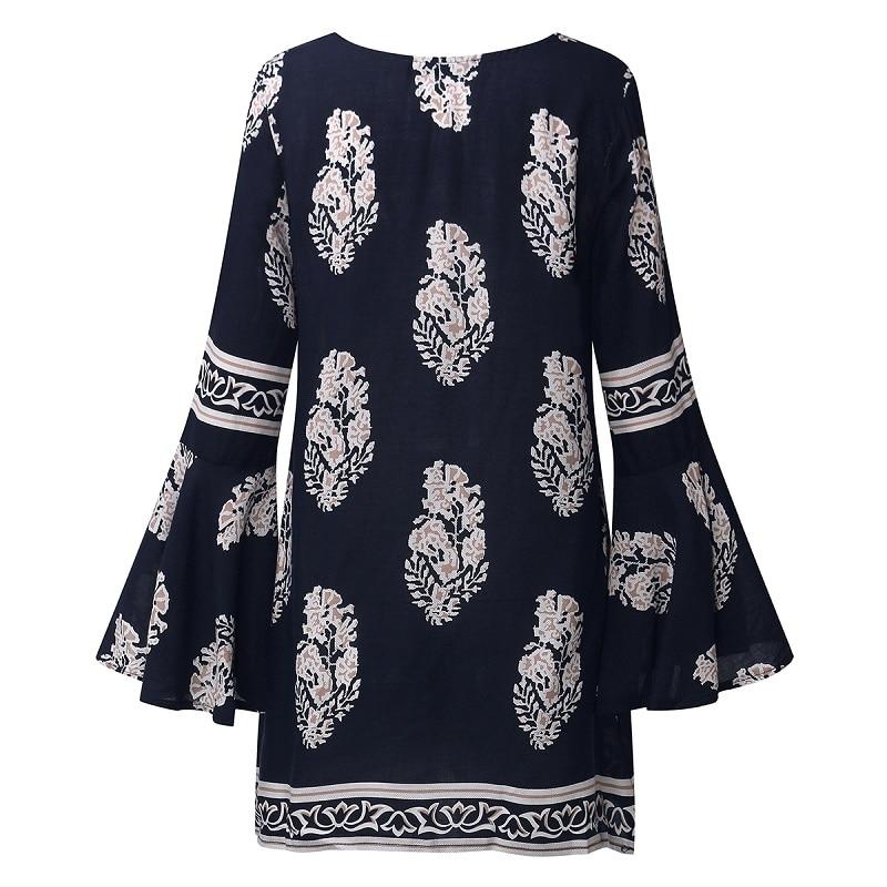 ZANZEA 2018 Dame Boho Lace Up V-Neck Shirt Stor Størrelse Floral - Dametøj - Foto 3