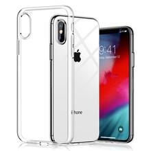 Cases For iphone 7 Case Plus Transparent Silicon Soft TPU Cover 8 X XS Max 6s 6 5 5s SE 4s ipone Coque Fundas Etui