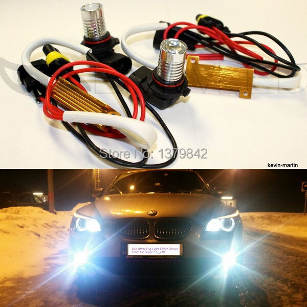 Free shipping  car-styling H11 LED Fog Lights White Bright LED For 2002-2011 X5 BMW E53 E70 car styling fog lights for bmw e64 2004 05 06 12 v 1 set