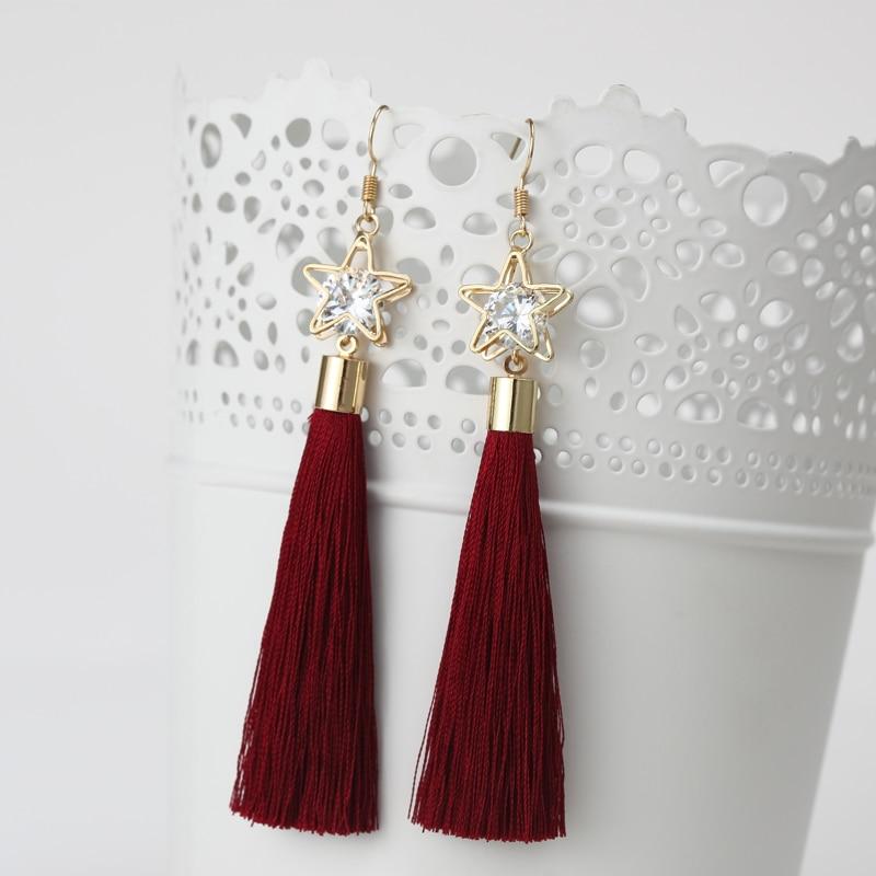2016 модные богемные Винтажные серьги с перфорацией в виде пентаграммы