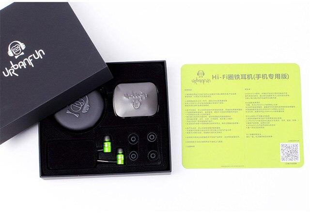 URBANFUN 3.5mm HiFi Hybrid Technology Earphone Subwoofer with Microphone for iphone samsung phone