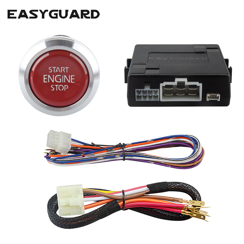 EASYGUARD Smart engine start module W remote start stop for automatic transmission car optional,can work with car alarm system