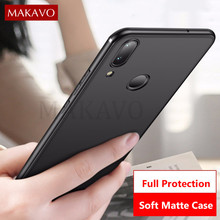 MAKAVO For Meizu Note 9 Case Slim Matte Soft Cover Cases For