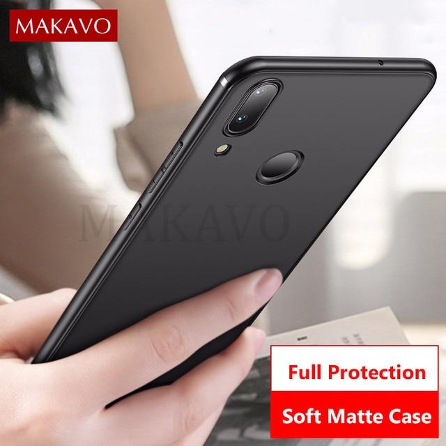 MAKAVO For Meizu Note 9 Case Slim Matte Soft Cover Cases For Meizu Note9 Phone Cases