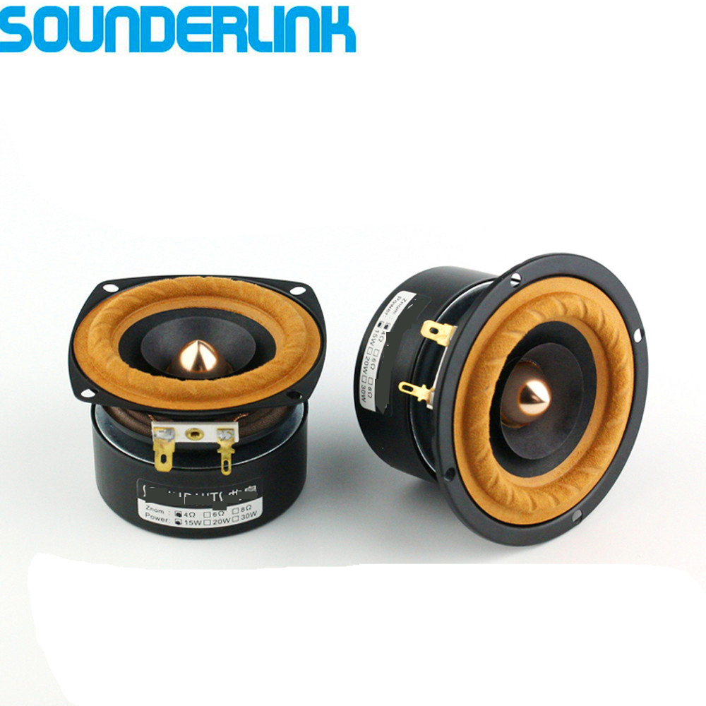 2PCS/LOT Sounderlink AudioLabs 3 Inch Full Range Woofer Hi-Fi Speaker Tweeter Unit Medium Bass Bullet Arrow Transducer