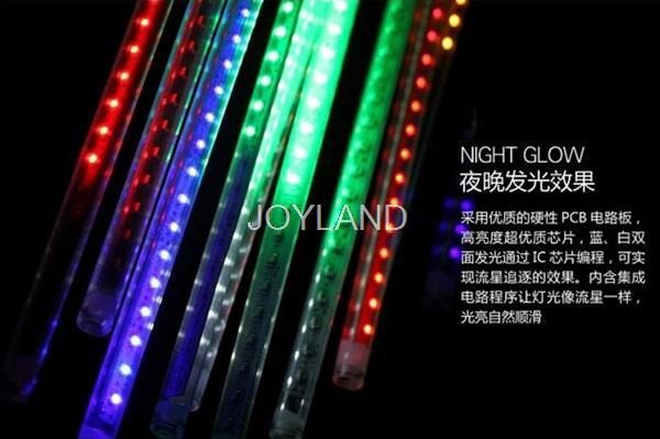 Free shipping 10pcs/lot wholesale meteor shower Christmas Tree Decoration Best Flash Tree LED Decorative Lights