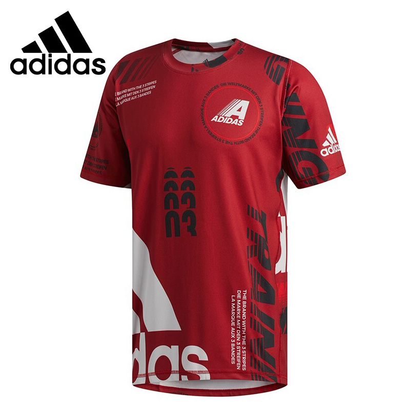 Original New Arrival  Adidas  DAILY AOP TEE Mens T shirts short sleeve Sportswear-in Running T-Shirts from Sports & Entertainment on AliExpress