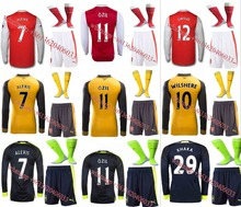 Hot sale 2017 Arsenals Top Best Qualit Full Arsenales adult kit+sock Soccer jersey 16 17 Home Away 3RD kit Shirt Free shipping
