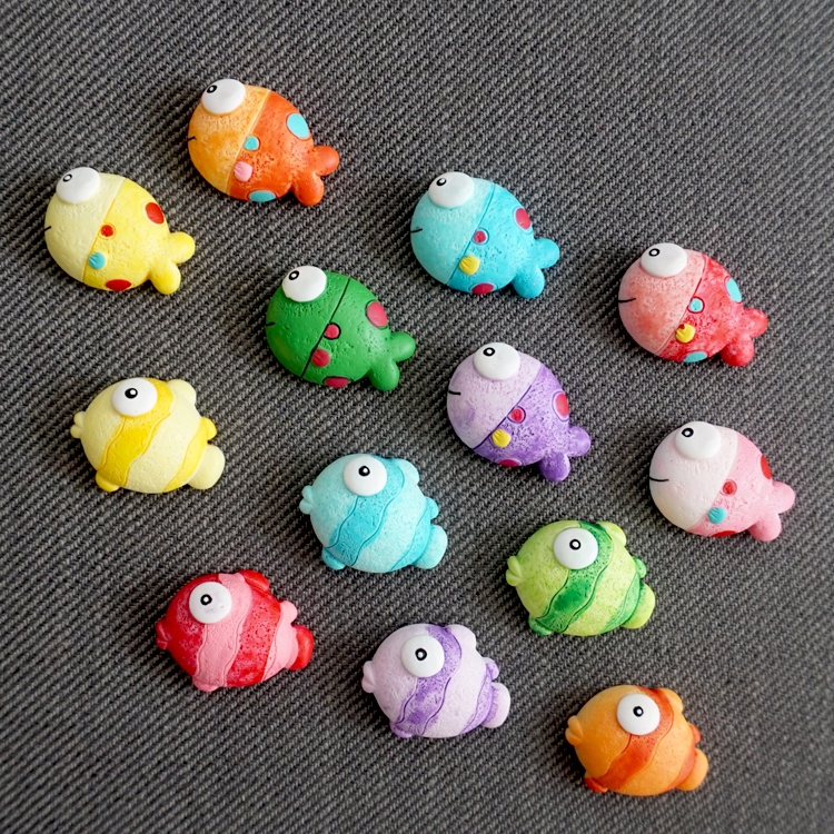 Cute Fish Creative 3D Magnetic Fridge Magnets Resin Crafts Refrigerator Magnet Stickers  ...
